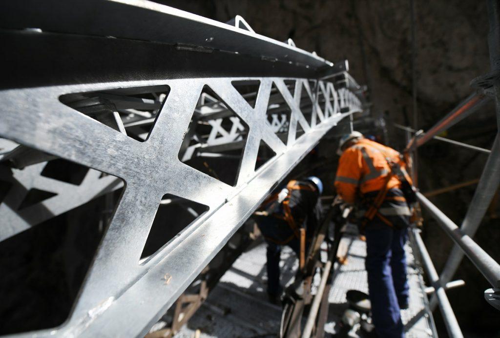 Brückenneubau an der Zugspitze
