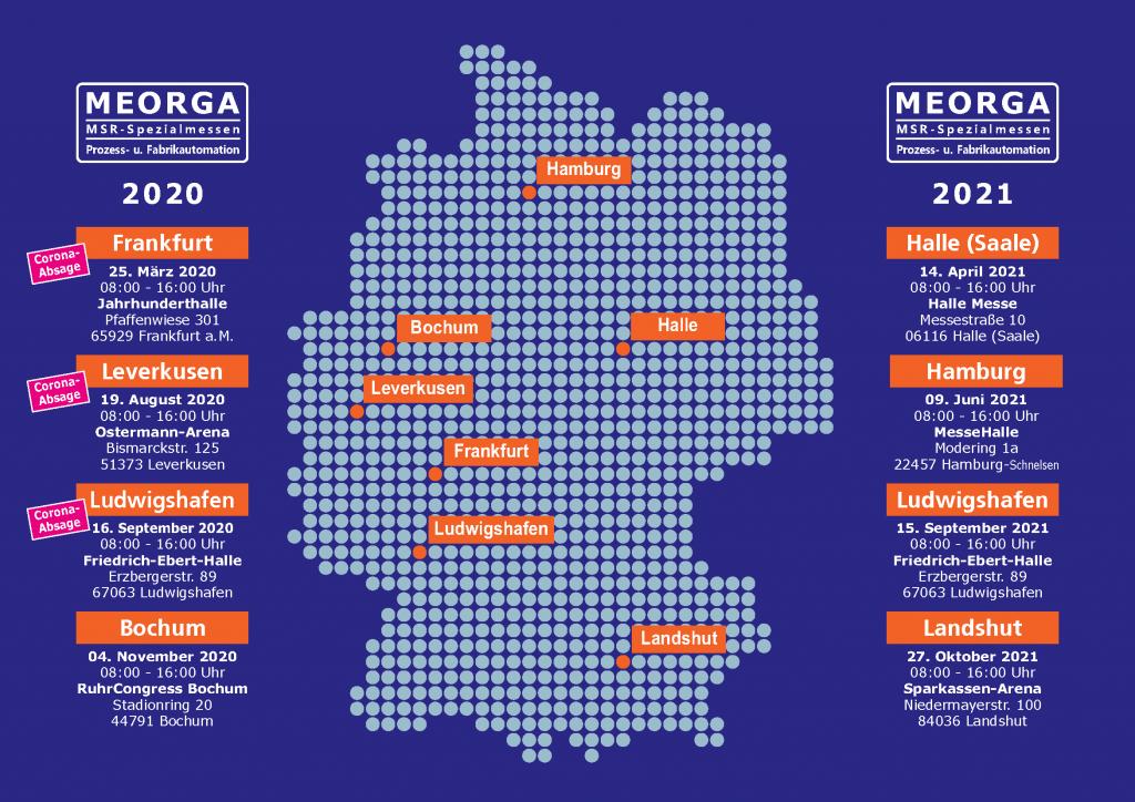 Jahresplaner der MEORGA-Spezialmesse