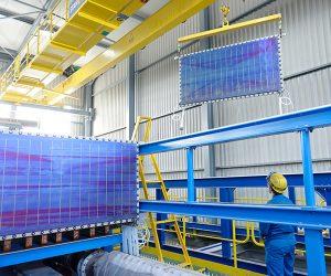 Wasserelektrolyse-Modul im Aufbau