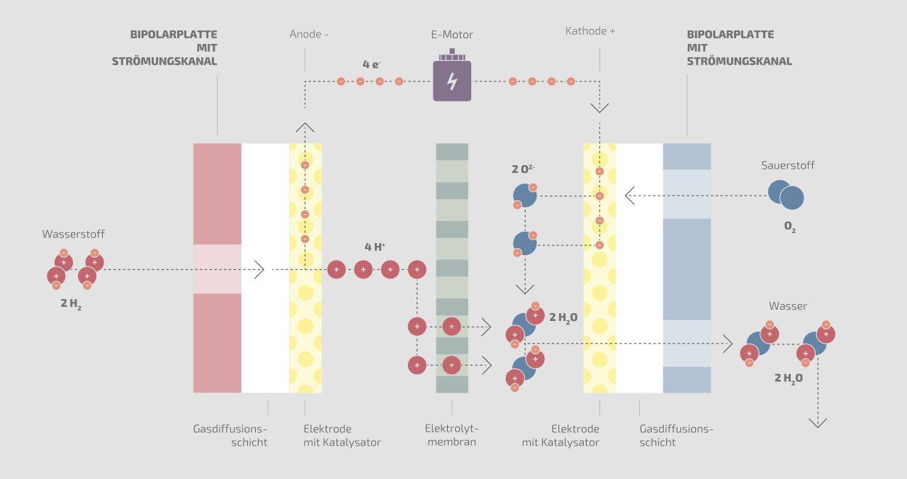 Veranschaulichung eines Brennstoffzellenelements